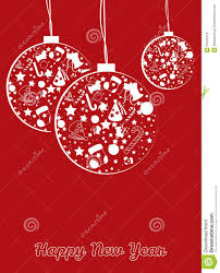 new year post card new year balls postcard stock vector illustration of light 33436113