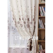 Brown Floral Curtains Affordable Beige And Brown Flowers Floral Burlap Curtains