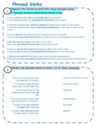 english exercises exercices about phrasal verbs
