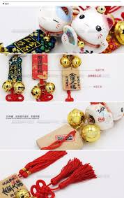 traditional japanese lucky cat bell fringe car auto fashion