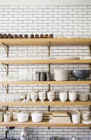 kitchen shelving how to style your kitchen shelves coco kelley