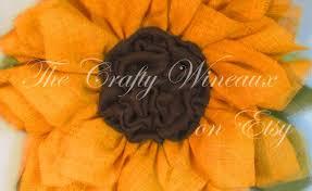 burlap sunflower wreath sunflower burlap fabric gardening flower and vegetables