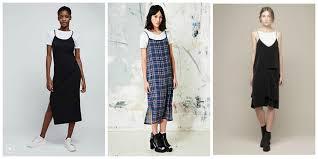 addicted 1990 u0027s trends slip dresses over t shirts 2017