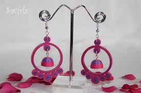quilling earrings images browse these 26 pairs of paper quilled jhumka earrings for