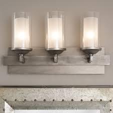 iron strip vanity light 3 light shades of light