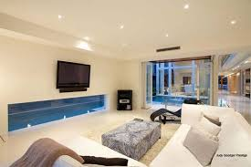 Family Room With Sectional Sofa Stunning Family Room Or Home Theater Interior Design Decorating