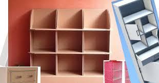 cara membuat lemari buku dari kardus bekas membuat lemari dari kardus yang kuat dan rapi tangan kreatif lia