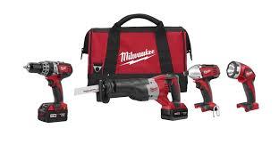 amazon black friday tool set milwaukee 2696 24 m18 18v cordless 4 tool combo kit 2696 24
