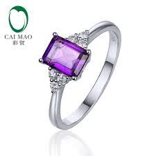 amethyst diamond engagement ring online buy wholesale amethyst diamond jewelry from china amethyst