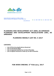 Mezzanine Floors Planning Permission Dún Laoghaire Rathdown Planning Weekly List No 5 2017 By