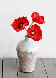 Red Flowers In A Vase Silk Poppies Artificial Poppy Silk Flowers U2013 Afloral Com