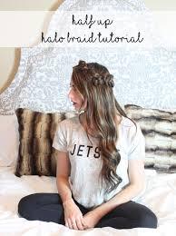 braided hairstyle half up halo braid tutorial dani marie blog