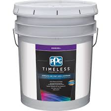 ppg timeless 5 gal pure white base 1 eggshell interior paint with