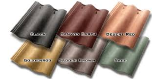 Roof Tile Colors Synthetic Mission Roof Field Tiles Saddle Brown Color 1