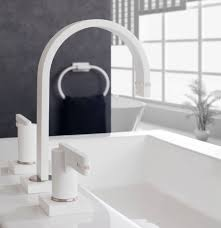 white bathroom faucet faucets tiles plus