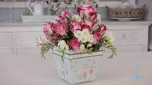 simple rose arrangement floristry tutorial youtube