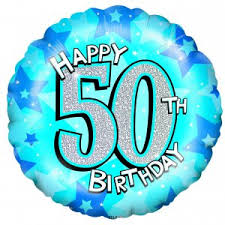 50th birthday balloons delivered birthday balloon blue shimmer 50th balloon gift for delivery uk