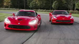 corvette vs viper 2014 srt viper gts and 2014 chevrolet corvette stingray around