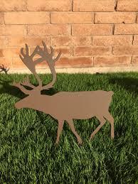 Metal Christmas Lawn Decorations reindeer 14 metal yard art christmas lawn decor outdoor