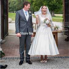 aliexpress com buy short tea length wedding dresses for 2016