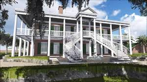 Plantation Style Home Plantation Colonial House 3d Flythrough Youtube