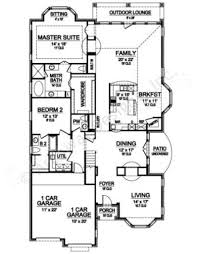 Narrow House Plans With Garage Flagstone Creek Ii Narrow House Plan Luxury House Plans