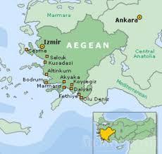 Aegean Sea Map About Turkey Turkish Aegean Region