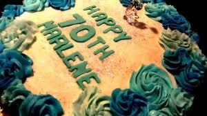 70th birthday cake easy cake decorating using 1m wilton piping