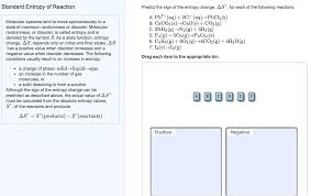 Standard Entropy Change Table Solved Calculate The Standard Entropy Change For The Reac