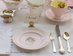 Informal Table Setting by Setting The Table Place Settings The Vintage Table