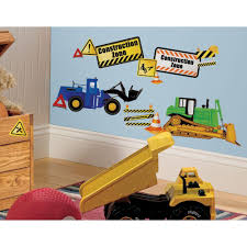5 in x 11 5 in construction trucks peel and stick wall decals