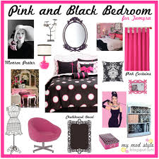 cute bedroom stuff in pink black and white inspirations