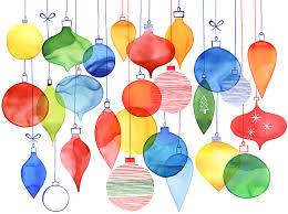 margaret berg art overlapping xmas ornaments pattern christmas