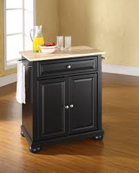 crosley furniture alexandria natural wood top portable kitchen