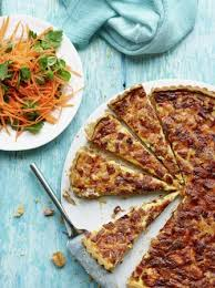 lorraine cuisine quiche lorraine with carrot and parsley salad eggs recipes