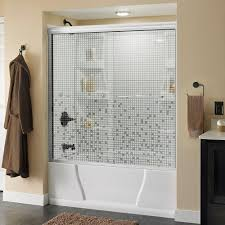 bathtub doors bathtubs the home depot simplicity 60 in x 58 1 8 in semi frameless sliding