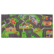 Kids Play Rugs With Roads by Toy Car Mat Hot Wheels Matchbox Carpet Kids Rug City Train Road