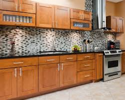 Kitchen Backsplash Ideas With Black Granite Countertops Kitchen Medium Wooden Kitchen Cabinet In Thomasville Style And