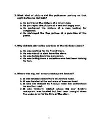 twenty years by o u0027henry analysis worksheets and reading quiz