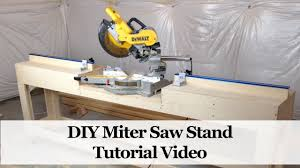 how to build a miter saw stand youtube
