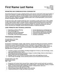 Sales And Marketing Resume Sample by Marketing And Communications Coordinator Resume Template Premium