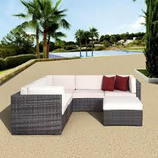 Home Depot Wicker Patio Furniture - atlantic contemporary lifestyle bellagio grey 6 piece all weather