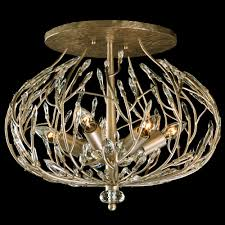bask 271s06gd semi flush crystal ceiling light varaluz