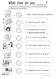 Coordinating And Subordinating Conjunctions Worksheets 154 Free Esl What Time Worksheets