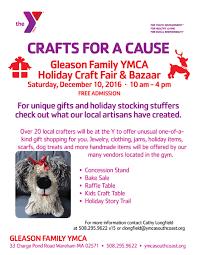 holiday craft fair u0026 bazaar at the gleason family ymca wareham