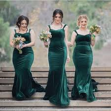 bridesmaid dresses mermaid olive green straps wedding bridesmaid dresses