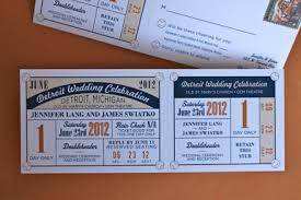 baseball wedding invitations wedding invites ticket stubs wedding invitation designed to look