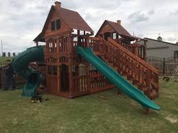 100 cedar backyard playsets gorilla chateau duo for the