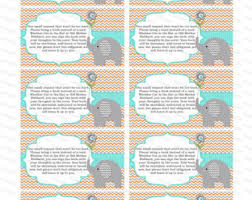 baby shower instead of a card bring a book elephant baby shower invitation bring a book instead of a card