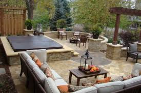 tub fireplace pool traditional with stone wall stone wall